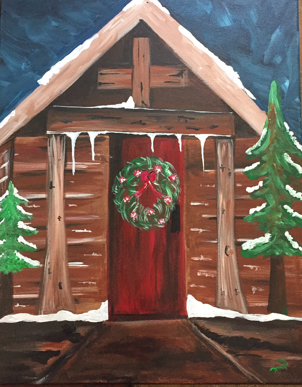 Winter Cabin The Painters Lounge Best Paint And Wine
