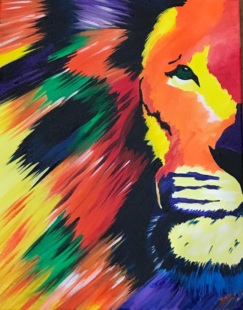 LION LIFE - The Painters Lounge - Best Paint and Wine, Paint and Sip in Phoenix, Arizona
