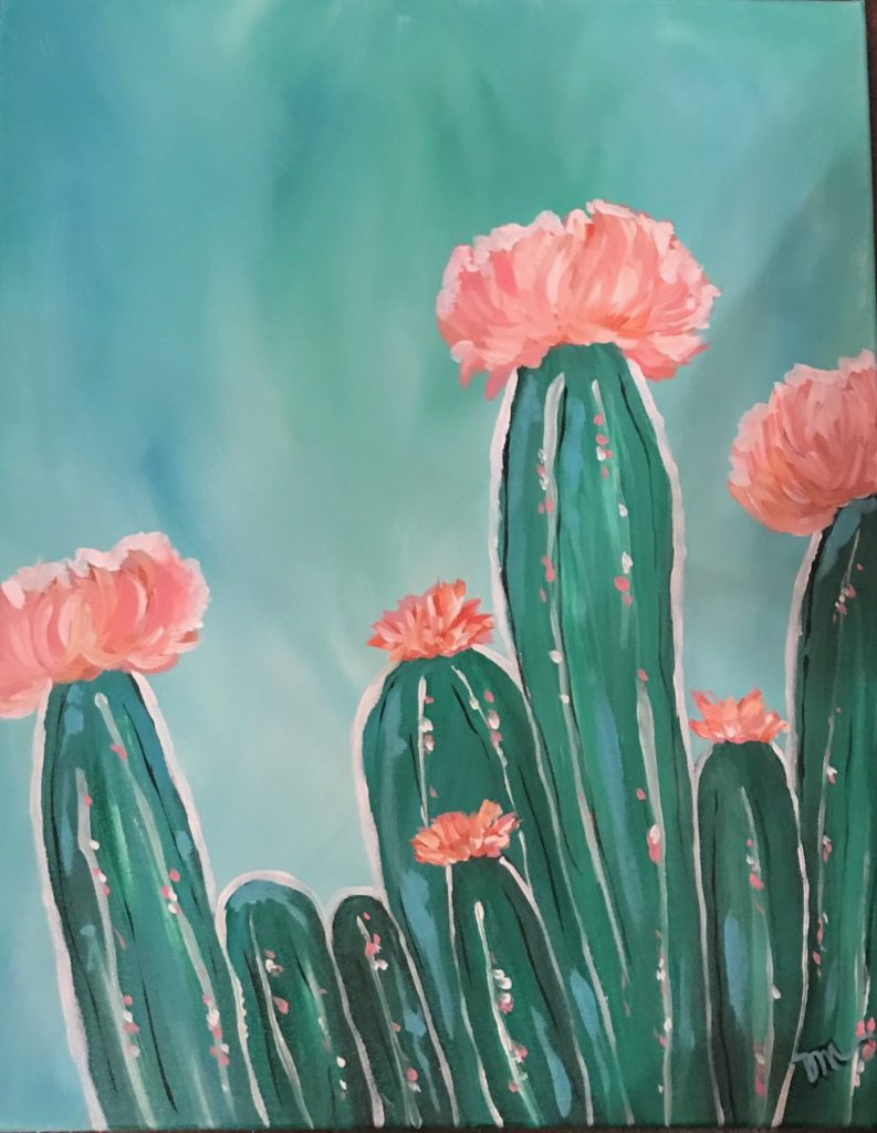 CACTUS STYLE - The Painters Lounge - Best Paint and Wine, Paint and Sip in Phoenix, Arizona