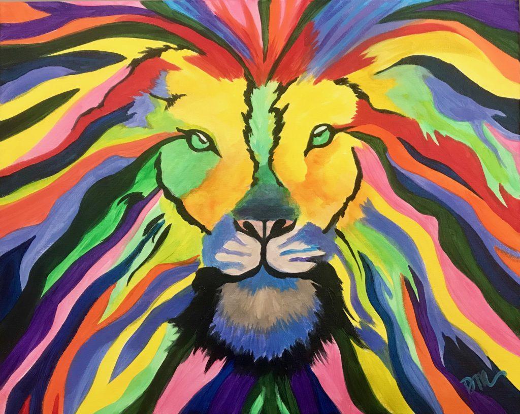 Technicolor Lion